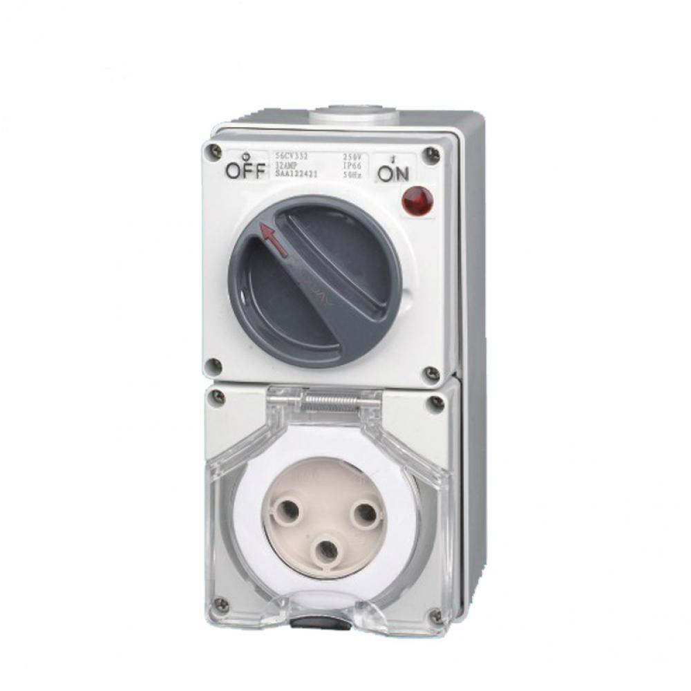 Industrial Switch Socket Outlet 32A 3PIN